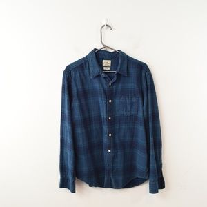 Lucky Brand Plaid LS Shirt Large